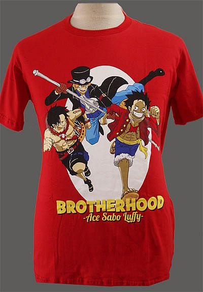T-shirt Kaos Anime Ace Sabo Luffy (One Piece)