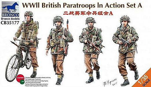 Bronco 35177 1/35 WWII British Paratroops in Action Set A